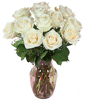 Send flowers in vases to india through india flower vases store 12 white roses price rs 750 us 1200 mightylinksfo