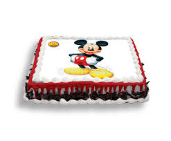 EGGLESS Mickey Mouse Cake