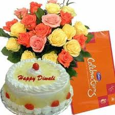Celebration Pack +12 MixRoses +1/2 Kg Cake