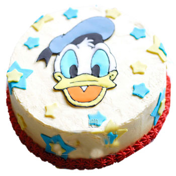 EGGLESS Donald Duck Cake