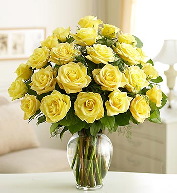 Send flowers in vases to india through india flower vases store yellow roses vase mightylinksfo