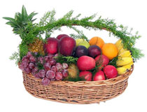 Fruit Basket and 6 flowers