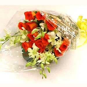 1/2 Kg Dry Fruits and Bunch of Assorted Flowers